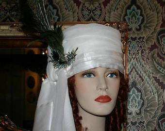 "Arabian Turban Headdress Hat ""Princess Jasmine"" Dolley Madison Turban Arab"