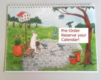 PRE Order - 2018 Wall Calendar - New Paintings by Nakisha - Reserve Your Copy Now For Special Price