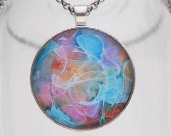 Abundance of Beauty Art Pendant Necklace