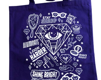 Purple Eye Sharpener Tote Bag