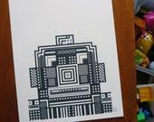 Robot geometric screenprint