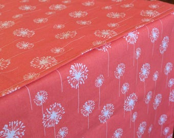Designer Dog Crate Cover, Small Dandelion Coral Cover, YOU Choose Fabric, Crate Cover, Pet Crate Cover, Personalization & Grommets Extra