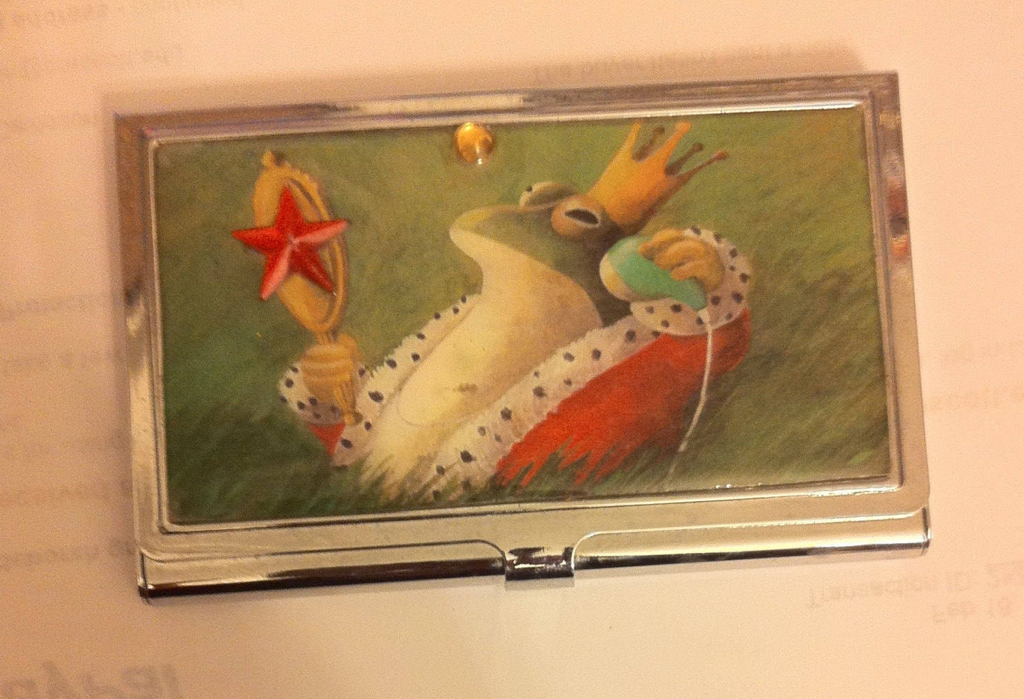 Retro Royal Frog Business Card Holder Credit Card Case ...
