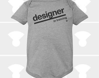 Baby Onesie, Christmas Gift for Baby, Newborn, Funny Onesie, Designer In Training, Personalized Onesie, Baby Boy Onesie, Baby Girl Clothes