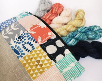 VILD BLOMMA Scrappy Yarn and Project Bag Set