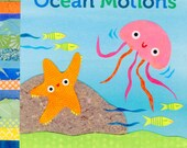 Ocean Motions, board book, ocean book for babies, personalized, Caspar Babypants, Kate Endle Collage, water animals book, childrens book