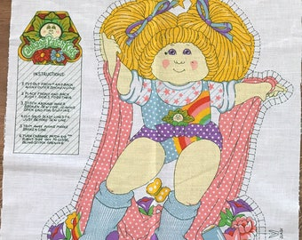 Cabbage Patch Kids 1980's Vintage Fabric Panel to make a stuffed pillow