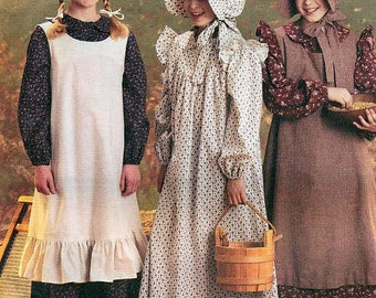 McCall's 9424 GIRLS' PIONEER COSTUMES Prairie Style Size Large 14-16 Or Small 7-8