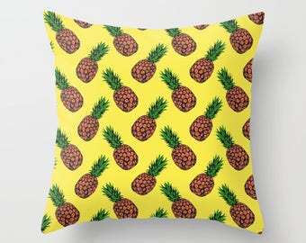 Pineapple Pop Throw Cushion Covers (with pillow insert)