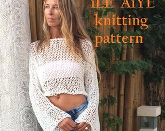 How to knit a crop top, easy knitting pattern, beginners knitting pattern,