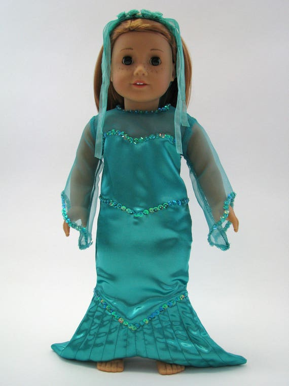 Mermaid Costume - 18 Inch Doll Clothes