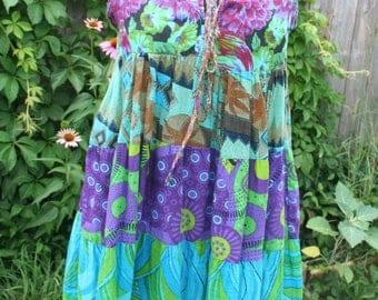 Floral tank / cotton tank / hippie top / hippie blouse / Indonesia / full cut / tank / boho blouse / boho tank / Thailand / Thai