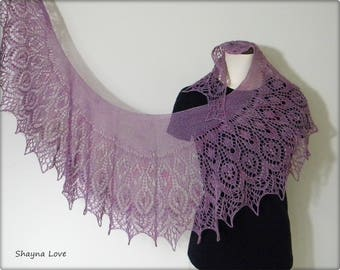 Alpaca Silk Lace Shawl - hand made - knitted scarf by Shayna Love