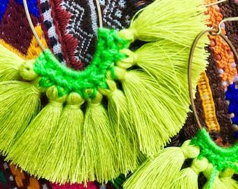 Handwoven Thai Tassel Earrings