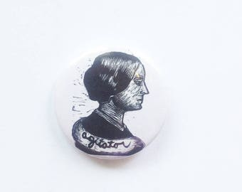 Susan B. Anthony Button - Pin Back Buttons - Susan B. Anthony - Suffragette Button - Agitator Button - Feminist Button