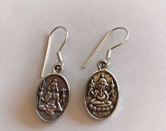 Ganesha Earrings-Sterling Silver Earrings