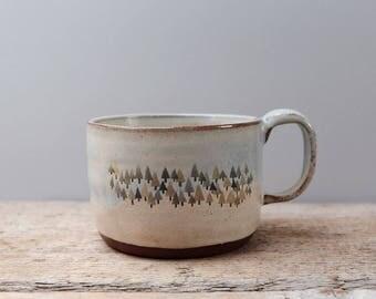 Wide Rustic Forest Mug
