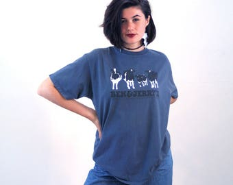 90s Ben & Jerry's Gray Blue Organic T-shirt, Ben Jerry's T-shirt, Ice Cream T-shirt, Vermont T-shirt, Cows T-shirt, Ben and Jerry's Tee, L