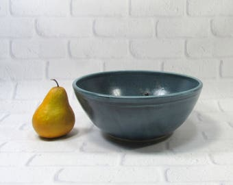 Ceramic Serving Bowl - Large serving bowl - Blue Bowl - Salad bowl - Pasta bowl - fruit bowl - Popcorn Bowl - centerpiece - Serveware Bowl