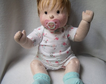 dolls, cloth baby doll, baby doll, cloth doll, rag doll, waldorf inspired, soft sculpture doll, soft baby doll, doll clothes with 2 outfits