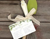 """Watercolour Illustrated Herb """"SAVORY"""" Recipe Cards - Double-sided set of 10 - Housewarming or Bridal Shower Gift - Art by Alicia's Infinity"""