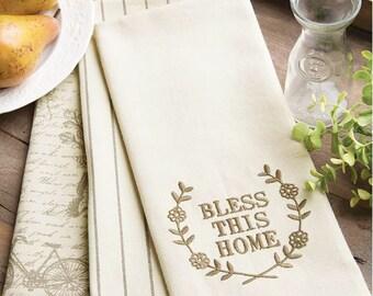 Bless This Home Tea Towel Set