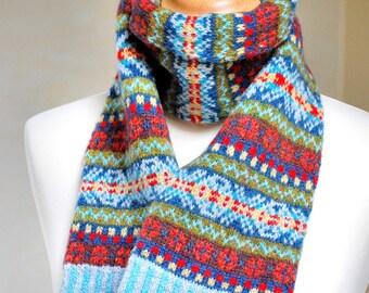 Hand Knit Fair Isle Scarf | Made to Order