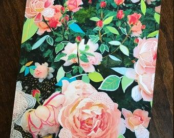 Blank Journal/Sketchbook   Peach Rose Garden    Daydream Journal   Roses   Katie Daisy