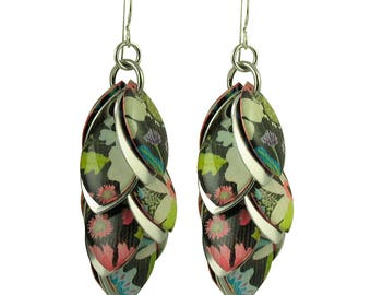 Floral Flux Petals to the Metal Earrings in Autumn Maple