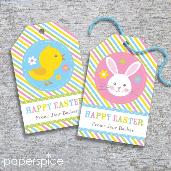 Personalized easter gift tags diy printable hang tags easter il570xn negle