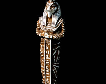 Judgement Of The Pharaoh Ancient Egyptian Burial Statue Horus Mummy
