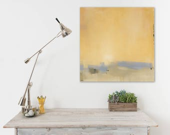 Minimalist Abstract Landscape Canvas Print, Ready to Hang, Sunrise, DIY Home Decor, Large Wall Art, Sunset Art, Coastal Decor, Beach House