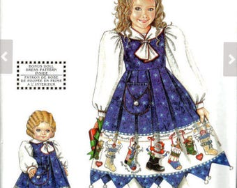 DAISY KINGDOM Sewing Pattern - Girls DK Dress & American Doll Clothes