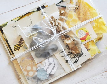 Bee Journaling and Mixed Media Inspiration Pack - Honey Inspiration Kit - Travelers Notebook - Journal - Accessories