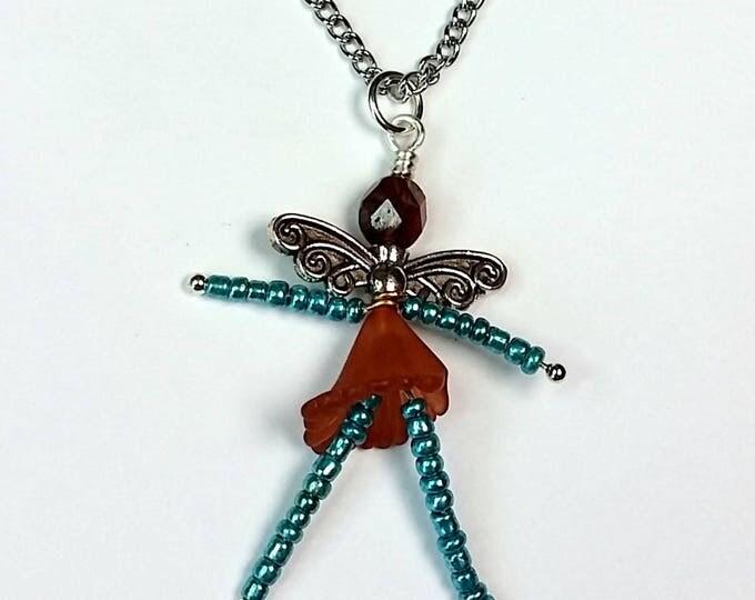 Aqua Sugar and Spice Good Luck Fairy Pendant