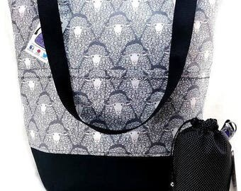 Stand up Tote XL Knitting Crochet Project Bag - Cotswold Sheep