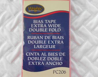 DESTASH - Wrights Extra Wide Double Fold Bias Tape, Paradise Pink 117 206 1373