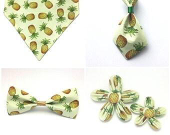 Pet Accessory - Fresh Summer Pineapple - Over-the-Collar - Custom - Bandana, Bow Tie, Neck Tie, Flower