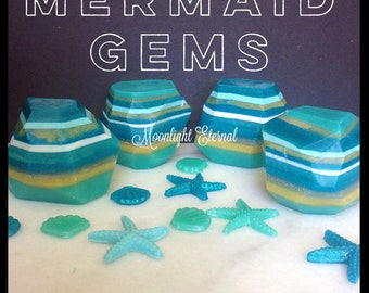 Mermaid Gem Soap - Gemstone Soap - Handmade Soap - Mermaid Soap - Ocean Scent - Vegan Formula