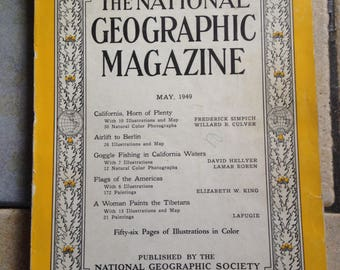 May, 1949 National Geographic Magazine