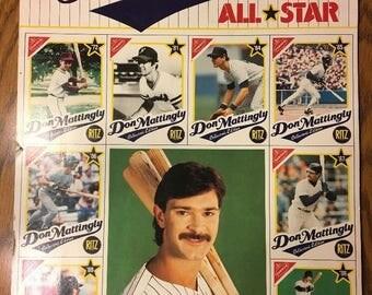 1989 Don Mattingly All-Star Uncut Sheet New York Yankees