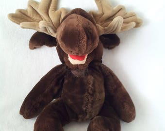 Vintage Moogy the Moose Plush Stuffed Toy GanzBros. - 1982 Heritage Collection