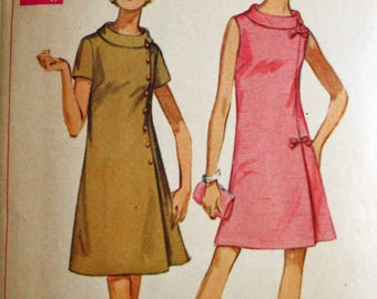 Vintage 1960s Sewing Pattern, Simplicity 8159, Jiffy Dress in Half-Sizes, 14 1/2, Bust 37""