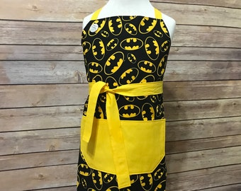 Kid's Batman Print Apron