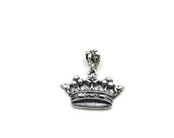 NEW Royal Crown - Slide On Charm - Fits Standard European Charm Bracelets