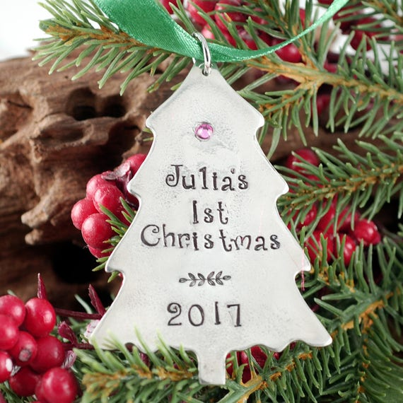 Baby's First Christmas Ornament, Christmas Tree Ornament, Engraved Christmas Ornament, New Baby Ornament, Christmas Gift for New Mom