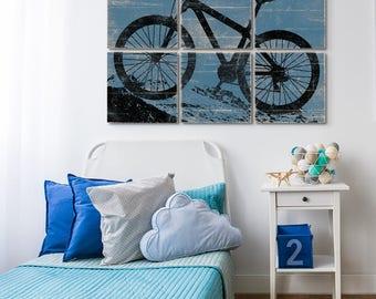 Mountain Bike Print - Mountain Biking - Bicycle Art Decor - Best Bicycling Gift - Wall Art Bicycle - Large Bike Art - Bicycle Print