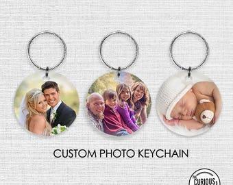 Custom Photo Round Acrylic Keychain - Create your own Keychain Personal Photo Keepsake Gift  2 inch Round Acrylic