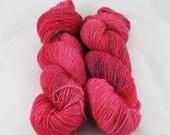 Hand Dyed Semisolid Sparkling Sock Yarn - Cherry