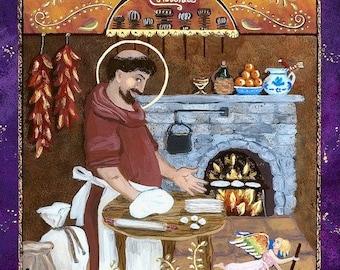 San Pascual Art Saint Pascual Cooking Print Kitchen Gift Foodie Gift Kitchen Art San Pasqual Kitchen Decor Print Under 30